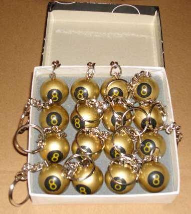 Keychains Billiard Balls Soccer Football Baseball Tennis
